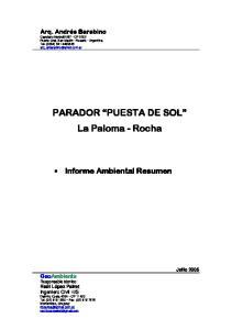 PARADOR PUESTA DE SOL La Paloma - Rocha