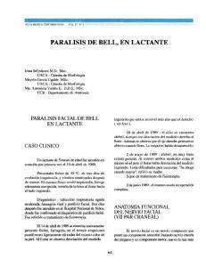 PARALISIS DE BELL, EN LACTANTE
