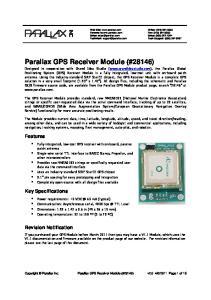 Parallax GPS Receiver Module (#28146)