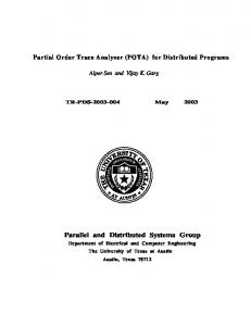 Parallel and Distributed Systems Group