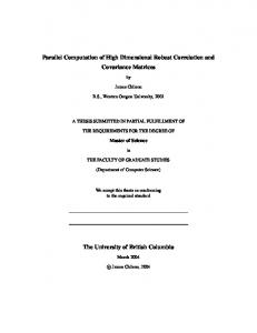 Parallel Computation of High Dimensional Robust Correlation and Covariance Matrices