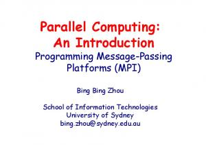 Parallel Computing: An Introduction