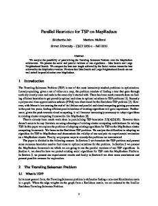 Parallel Heuristics for TSP on MapReduce