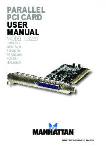 Parallel PCI Card user manual