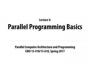 Parallel Programming Basics