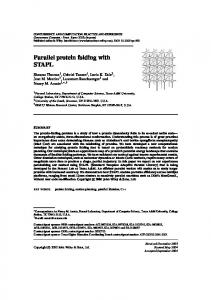 Parallel protein folding with STAPL