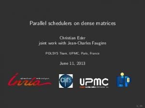 Parallel schedulers on dense matrices