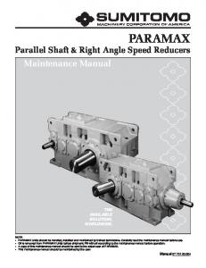 Parallel Shaft & Right Angle Speed Reducers THE AVAILABLE SOLUTION, WORLDWIDE