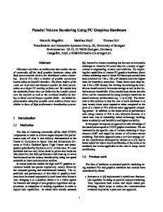 Parallel Volume Rendering Using PC Graphics Hardware