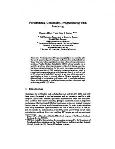 Parallelizing Constraint Programming with Learning
