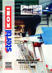 PARALLELOGRAM VEHICLE LIFTS
