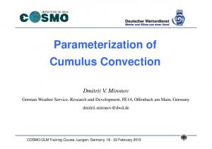 Parameterization of Cumulus Convection
