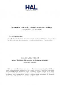 Parametric continuity of stationary distributions