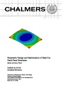 Parametric Design and Optimization of Steel Car Deck Panel Structures