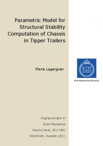Parametric Model for Structural Stability Computation of Chassis in Tipper Trailers
