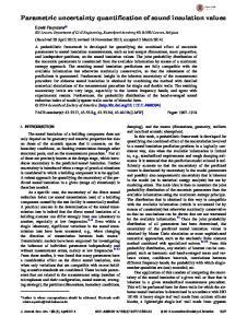 Parametric uncertainty quantification of sound insulation values