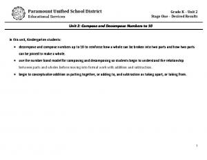 Paramount Unified School District Educational Services