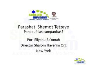 Parashat Shemot Tetzave