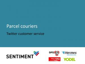 Parcel couriers. Twitter customer service