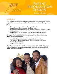 Parent Information Session
