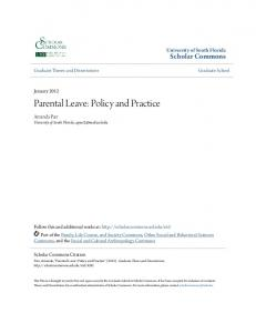 Parental Leave: Policy and Practice