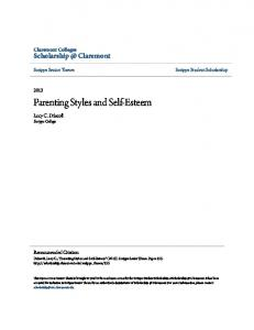 Parenting Styles and Self-Esteem