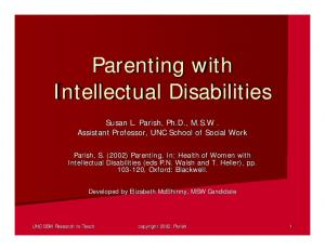 Parenting with Intellectual Disabilities