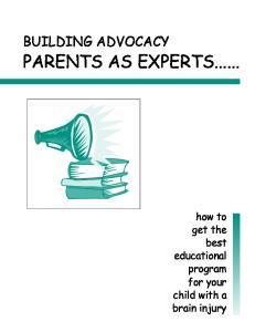 PARENTS AS EXPERTS