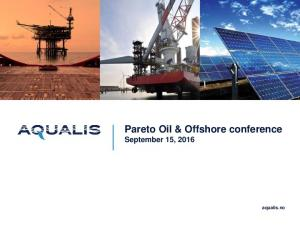 Pareto Oil & Offshore conference September 15, aqualis.no