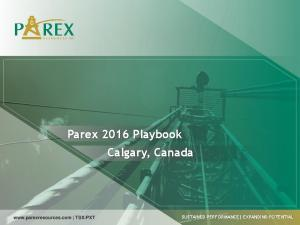 Parex 2016 Playbook Calgary, Canada