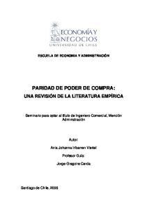 PARIDAD DE PODER DE COMPRA: