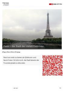 Paris die Stadt der vielen Gesichter