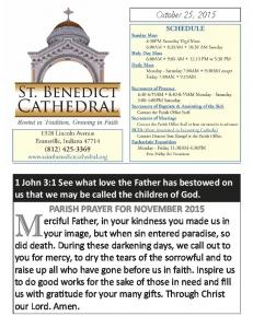 PARISH PRAYER FOR NOVEMBER