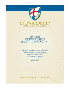 PARISH STEWARDSHIP RESOURCE MANUAL