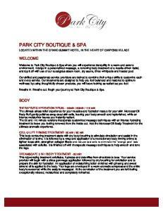 PARK CITY BOUTIQUE & SPA