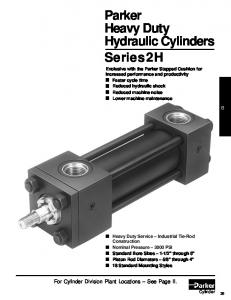 Parker Heavy Duty Hydraulic Cylinders Series 2H