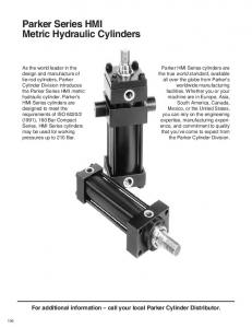 Parker Series HMI Metric Hydraulic Cylinders