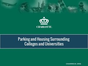 Parking and Housing Surrounding Colleges and Universities