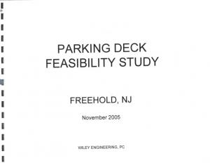 PARKING DECK FEASIBILITY STUDY