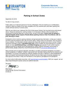 Parking in School Zones