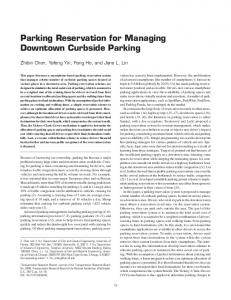Parking Reservation for Managing Downtown Curbside Parking