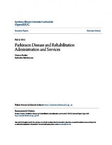 Parkinson Disease and Rehabilitation Administration and Services