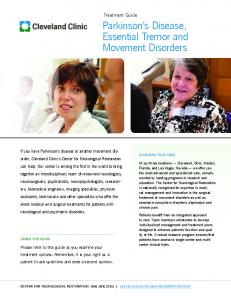 Parkinson s Disease, Essential Tremor and Movement Disorders