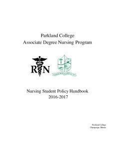 Parkland College Associate Degree Nursing Program