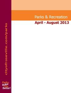 parks. Parks Make Life Better!