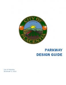 PARKWAY DESIGN GUIDE City of Placentia November 3, 2015