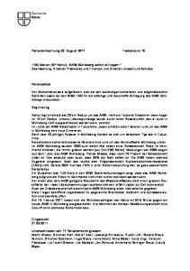 Parlamentssitzung 22. August 2011 Traktandum 15