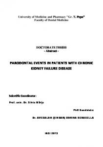 PARODONTAL EVENTS IN PATIENTS WITH CHRONIC KIDNEY FAILURE DISEASE