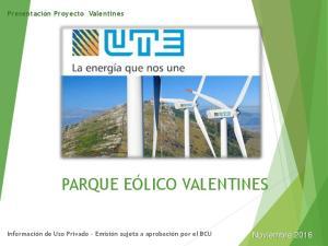 PARQUE EÓLICO VALENTINES