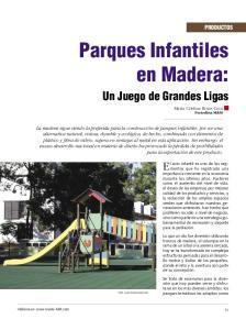 Parques Infantiles en Madera: